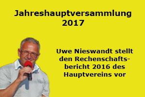 +++ Rechenschaftsbericht 2016 von Uwe Nieswandt auf der JHV 2017 +++